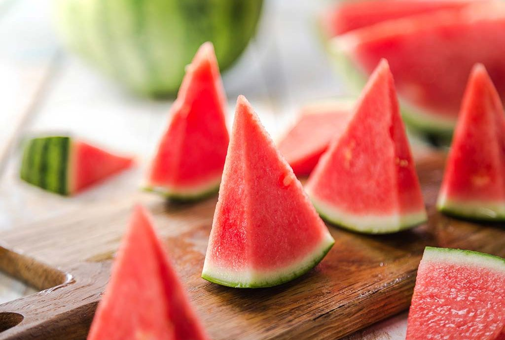 The health benefits come from the consumption of watermelon juice!