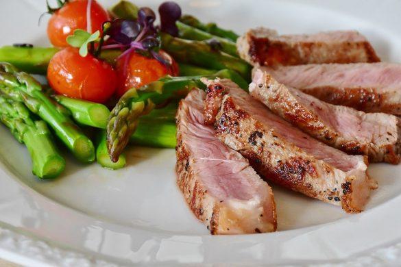 Asparagus Steak Veal Steak Veal Meat Barbecue